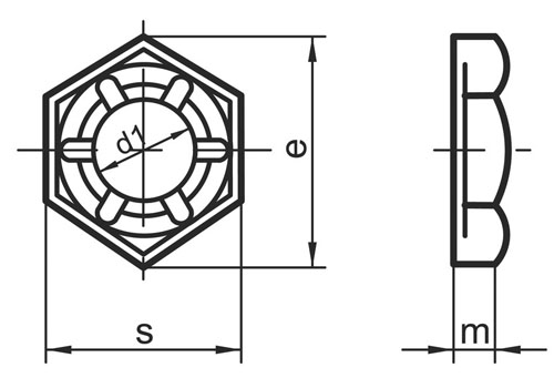 DIN 7967 A4 - Self Locking Counter Nuts(Palnuts) Dimensions