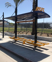 Steel Bus-stop Roof