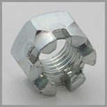 Steel Slotted Hex Nuts